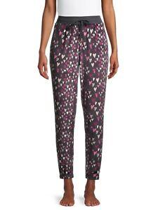 ✋✋✋Secret Treasures Hearts Women's Plush Velour Pajama Joggers PJ XL Extra Large