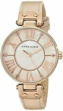 Anne Klein Women's Rose Gold tone Over sized Dial Strap* Pre-Owned*