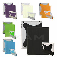 PU Leather Book Smart Magnetic Stand Case Cover For Apple iPad 2 3 4