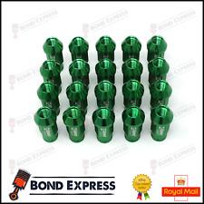 GREEN D1SPEC Light Weight Billet Racing Wheel Lug Nut Nuts M12x1.5 - UK IN Stock