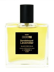 Odore Mio Sandalwood Lavender EDC Natural Perfume Spray for Men and Women
