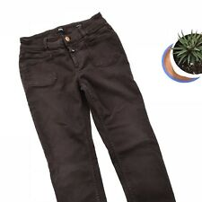 Closed Women's 26 Pedal-X Jeans Brown Denim Slim Skinny Stretch Made in Italy A2