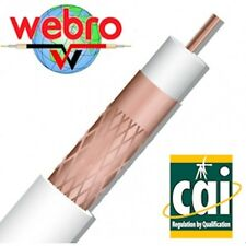 100m WEBRO WF100 Coax Cable on Drum. Ideal for Satellite or Aerial Install