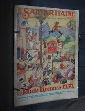 NB CATALOGUE LA SAMARITAINE  JOUETS ETRENNES 1930 GRANDS MAGASINS
