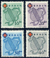 FZ BADEN, MiNr. 42-45 A, tadellos postfrisch, Mi. 110,-