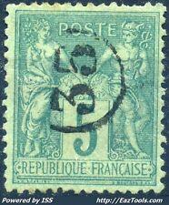 FRANCE SAGE N°75 CACHET JOUR DE L'AN ENCERCLE N° 35 A VOIR