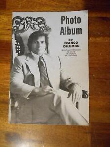 ORIGINAL Franco Columbu PHOTO ALBUM bodybuilding muscle booklet 1975
