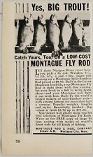 1941 Print Ad Montague Fly Fishing Rods Big Trout Montague City,Massachusetts