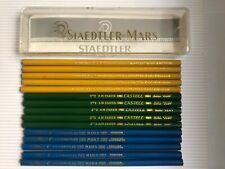 15 VINTAGE COPYING PENCILS: A.W.FABER / HARDTMUTH / STAEDTLER + BOX - UNUSED,NOS
