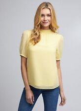 Dorothy Perkins Womens Billie & Blossom Lemon Puff Sleeve Shell Top Blouse