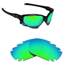 Hawkry Polarized Replacement Lenses for-Oakley Jawbone Vented Green Mirror