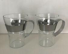 2 x Bodum ASSAM Tea Coffee Glasses Mugs Herbal, Latte, Americano 0.35L VGC