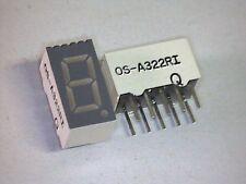 7-Segment Anzeige LED Display 9mm GRÜN GREEN A322RI gem. Anode