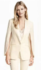 H&M conscious exclusive Cream Tuxedo Evening Jacket Size Blazer 36 Brand New