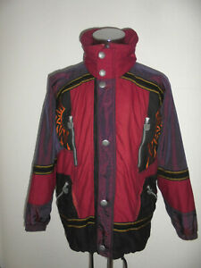 vintage KLEPPER Jacke gefüttert Skijacke glanz 90s oldschool anorak ski Gr.46 M