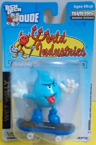 """2001 Tech Deck-Dude-MOC  'WeT WillY' from Steve Rocco's """"World Industries"""""""