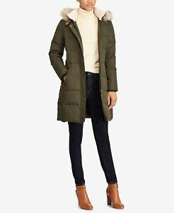 NewLAUREN Ralph Lauren Heavy Down Berber Puffer Coat XL Litchfield Loden S0419