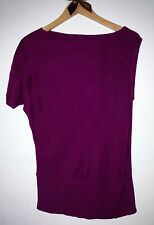 NWT Cable & Gauge Violet Knitted Asymmetrical Top Sz L