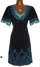 Stunning NANETTE LEPORE Silk Embroidered Fit Flare Summer Dress UK 10 US 6 $450