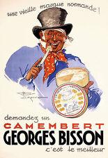 Kunst AD Camembert Käse Georges Bisson FOOD KITCHEN POSTER PRINT