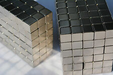 "500 MAGNETS 6mm X 6mm (1/4"") cubes strongest possible N52 Neodymium - US SELLER"