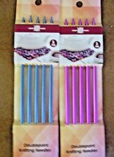 2 PACKS OF DOUBLEPOINT KNITTING NEEDLES SIZE 5 AND 6