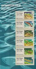 UK Post & Go Freshwater Life 3 - Rivers Stamp Set MNH 2013