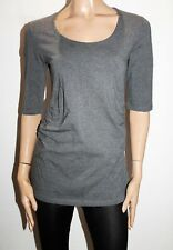 Soon Brand Maternity Charcoal Basic 3/4 Sleeve Scoop Tee Size XL BNWT #SP86