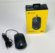 Clean Black Corsair M55 RGB Pro Ambidextrous Multi Grip Gaming Wired Mouse