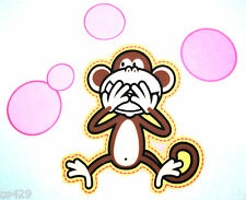 "10"" BOBBY JACK MONKEY JUMBO SET CHARACTER WALL SAFE FABRIC DECAL CUT OUT"