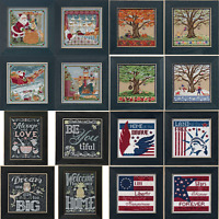 MIGHTY OAK, CHALKBOARD, PATRIOTIC QUARTETS Mill Hill Counted Cross Stitch Kits
