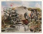 Soldiers sanitary Verdun Red Cross War Deutsches Heer WWI WELTKRIEG 14/18 CHROMO
