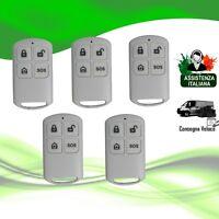 Kit 5x Telecomando Wireless 433 Mhz DynaSun Home DSYK01S Allarme Antifurto