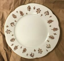 Arabia ~ Made in Finland ~ Scalloped Edge w/ Brown Leaves ~ Bread & Butter Plate