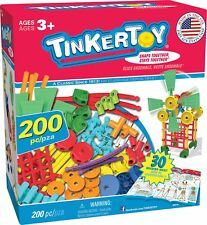 "TINKERTOY 30 Model Super Building Set �€"" 200 Pieces �€"" For Ages 3+ Preschool"