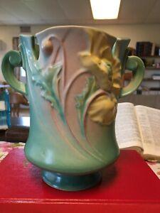 Roseville Poppy 969-7 2 Handled Vase