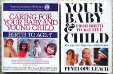 BABY CARE BOOK LOT–Pediatric/Caring for Your Baby and Young Child–Birth to Age 5