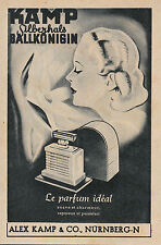 """Publicité Ancienne"""" Parfum Kamp, le Parfum Idéal 1943  """"  ( P 22 )"""