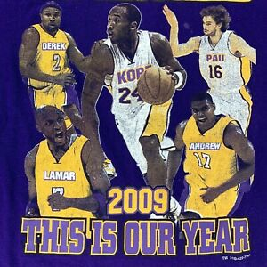 Vintage 2009 LAKERS T Shirt This Is Our Year KOBE BRYANT 2XL Championship Tee