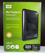 Western Digital WD 320GB My Passport Essential External Hard Drive USB 2.0 NTFS