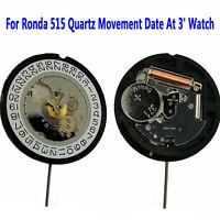Ronda 515 Quartz Movement Date At 3' Watch Repair Parts Accessories