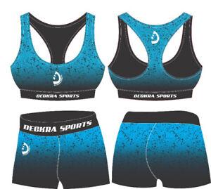 Women Sports Bra Yoga Gym Fitness Running Compression Ladies Tight Bra+Short Set