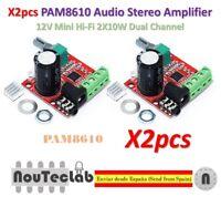2pcs 12V Mini Hi-Fi PAM8610 Audio Stereo Amplifier 2X10W Dual Channel D Class