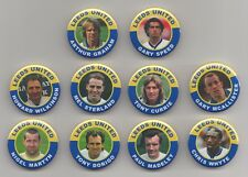 LEEDS UNITED  FC LEGENDS  BADGES  X 10  set 3