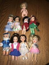 Vintage Dolls Simba Mattel Kid core Uneeda Lot Of 9 Mixed Brand Dolls