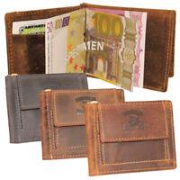 Leder Dollarclip Geldspange Geldklammer Geldbörse Geldbeutel Minibörse Vintage