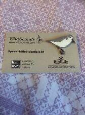 Not RSPB Pin Badge WildSounds Spoon-billed Sandpiper