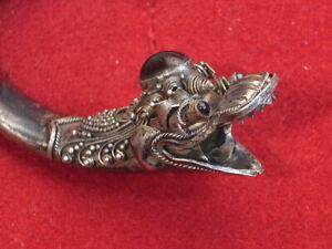 Ciondolo da collana bocchino in argento - prima metà del '900