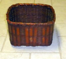 WICKER BASKET CANE 10 X 10 X 6' PLANTER GARDEN KITCHEN HOLDER BROWN