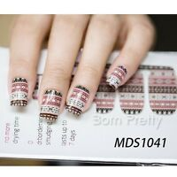14 pcs Nail Wraps Nagelsticker Nail Art Full Sticker MDS1041